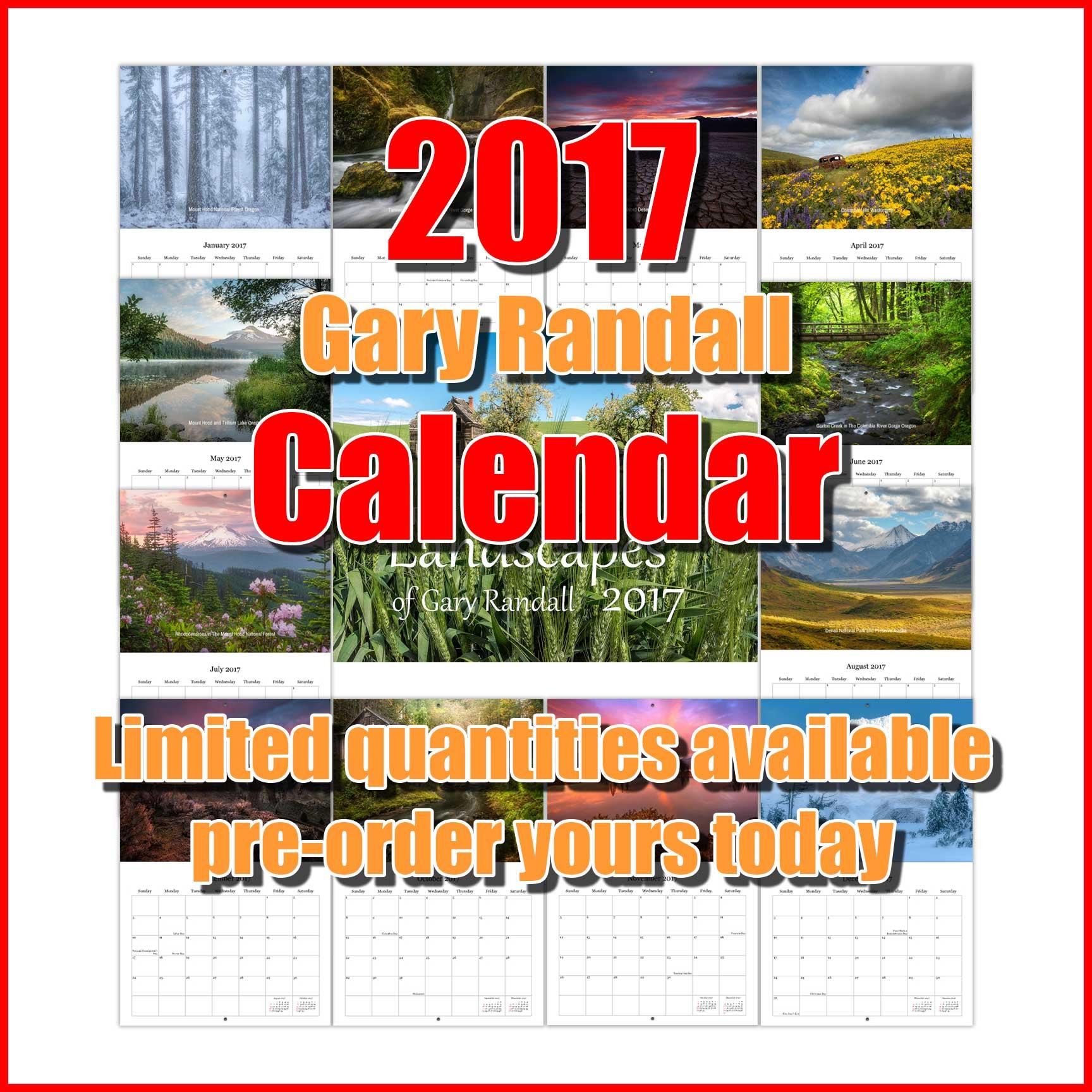 2017 Gary Randall Calendar
