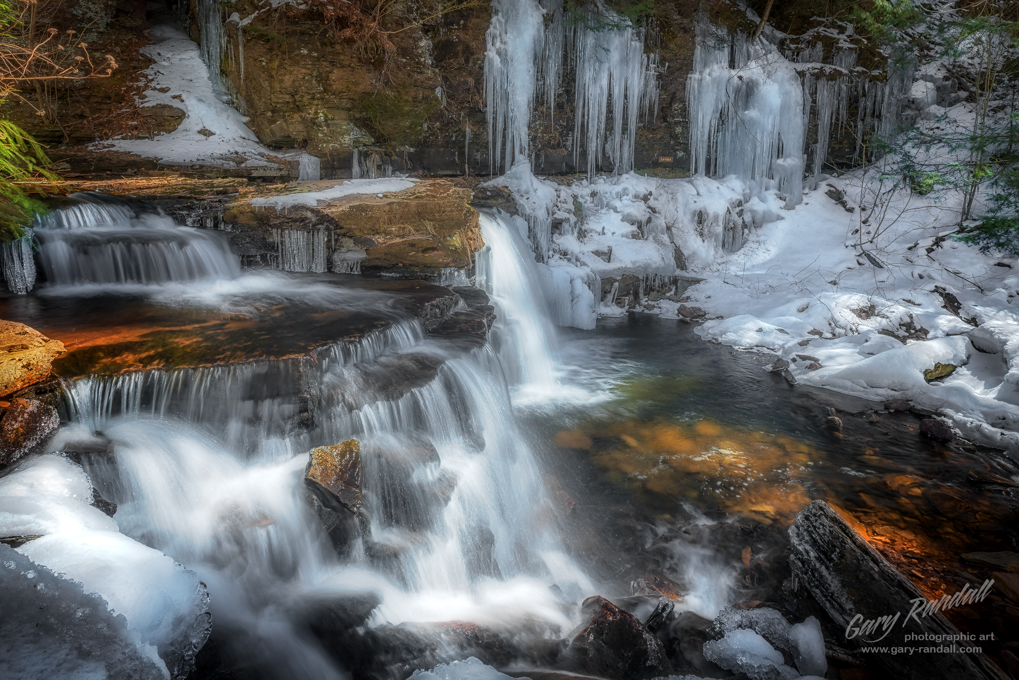 ricketts glen pennsylvania winter waterfalls